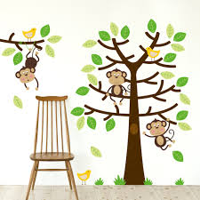 cheeky monkeys tree wall decal sticker set u2013 sirface graphics