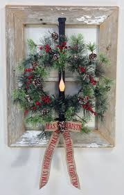 How To Decorate A Christmas Wreath Image Result For Old Window Ideas For Christmas Christmas