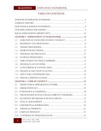 sample employee handbook template professional resumes example
