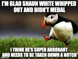 Shaun White Meme - he s clearly very talented but i think it got to his head too much