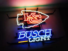 busch light neon sign busch light neon sign light beer bar pub decor handmade real glass
