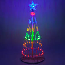 multicolor led light show tree lights white