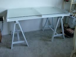 Diy Sawhorse Desk by Cool Gaming Computer Desk Setup With Black Ikea Linnmon Adils Idolza