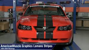 Black Mustang Red Stripes Mustang Lemans Stripes 8 And 12 Inches 94 04 All Review Youtube