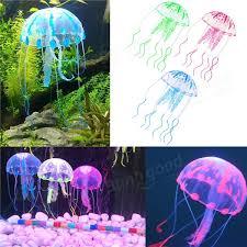 3 5cm aquarium fish tank glowing effect jellyfish aquarium