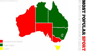Australian States Map by Australian States Most Popular Sports By Attendance Pretty Sure