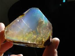 spectacular crystal opal looks like a handheld aquarium