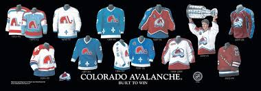 heritage uniforms and jerseys colorado avalanche franchise team arena and uniform history