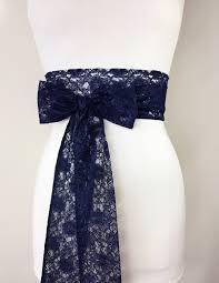 navy lace sash navy blue lace sash extra long wedding dress sash