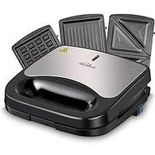Amazon Kealive Sandwich Maker Waffle Maker 750 Watts 3 in 1
