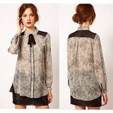 beautiful blouses high fashio sleeve s chiffon print shirts blouses tops