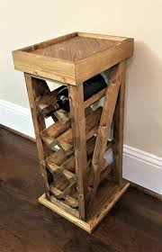 8 and 12 bottle wine racks stand