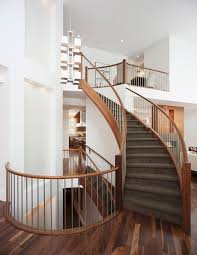 Wood Banister Carpet Cleaning Destin For Contemporary Staircase And Carpeted