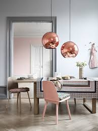 Dining Room Inspiration Design Inspiration Rose Gold Grey Dining Room With Copper