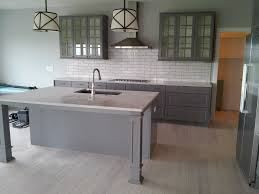 Ikea Kitchen Countertops by Minimalist Wooden Kitchen Island With Gray Wooden Countertops And