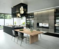 table de cuisine contemporaine table de cuisine contemporaine la cuisine quipe avec lot central