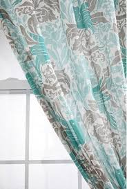 Gray And Turquoise Curtains Bird Flourish Curtain Contemporary Curtains Outfitters