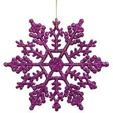 vickerman purple glitter snowflake with 24 per pvc box