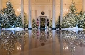 donald trump white house decor dancing ballerinas help kick off christmas at white house