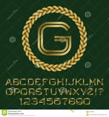 double line gold letters and numbers with g initial monogram