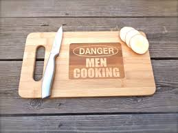 funny cutting boards danger men cooking funny engraved cutting board walyou