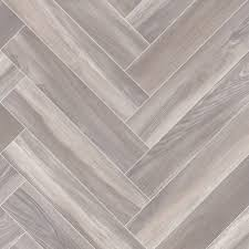 smoked parquet herringbone design cushioned vinyl flooring roll