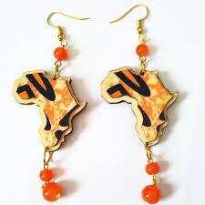 eco earrings colorful carving eco wood earrings handmade