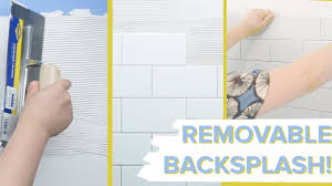 Kitchen Backsplash For Renters - removable tile backsplash for renters youtube