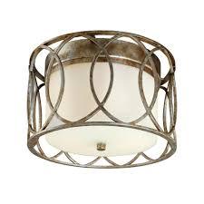 gold flush mount light troy lighting sausalito 2 light silver gold flush mount c1280sg