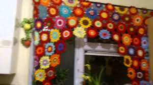 Crochet Kitchen Curtains by Crochet Curtains Youtube