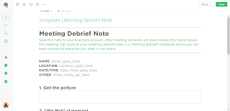 debriefing report template meeting debrief evernote templates process