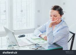 Front Desk Secretary Jobs by Doubt Concept Difficult Job Business Woman Stock Photo 570414535