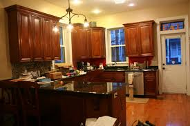 Kitchen Cabinets New Kitchen Wall Colors With Brown Cabinets And Pictures