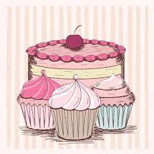 Cherry Cupcake Invitation Card Royalty Cake Stock Vectors Royalty Free Cake Illustrations Depositphotos