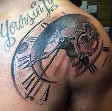 Chest And Shoulder - 80 clock designs for timeless ink ideas