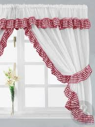 Black And Red Kitchen Curtains by Red Black And White Kitchen Curtains