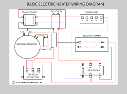 electric furnace wiring schematic electric heating system basic