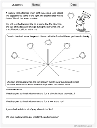 light and shadows lesson plans shadow length worksheet science skills online interactive activity