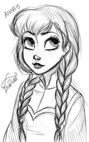 long hair beautiful sketch illustration drawing bella