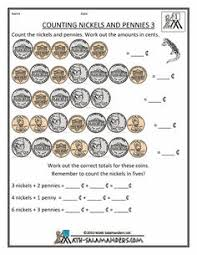 free money counting printable worksheets kindergarten 1st grade
