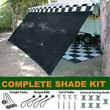 Rv Awning Lights For Sale Amazon Com Rv Awning Shade Complete Kit 8 U0027x20 U0027 Black Sports