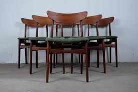 Teak Dining Room Set Teak Dining Chairs By Schøning U0026 Elgaard 1960s Set Of 6 For Sale