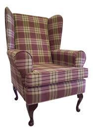 Queen Armchair Queen Anne Wing Back Chair Ebay