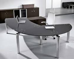 Glass Office Desks Black Glass Office Desk Homefurniture Org