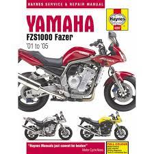 manual haynes for 2001 yamaha fzs 1000 fazer 5lv1 ebay