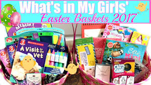 Gift Baskets For Teens What U0027s In My Girls U0027 Easter Baskets 2017 13 U0026 7 Years Old