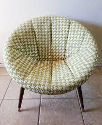 retro mid century modern saucer chair lime green u0026 cream