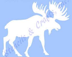 moose template moose stencil etsy