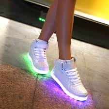 high top light up shoes men women 11 colors high top led shoes for adults white black
