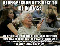 Veteran Meme - the middle age college freshman post reminded of another kind of